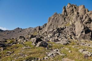 Вершина Серебрянского хребта