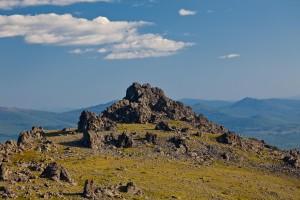 Вершины на Серебрянском хребте