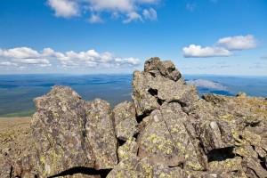 На вершине г.Конжаковский камень, 1569м.