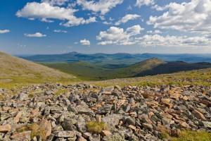Вид на плато и вершины