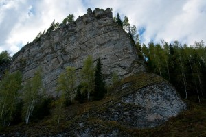 Скала Стрельный камень - высота 100 метров