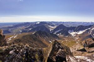 Вид на гору Югра,ледники Югра и МГП-2,исток реки Народа
