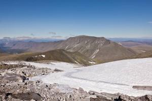 Вид на г.Карпинского - третья по высоте на Урале (1803м)