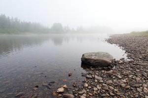 Река Щугор, утренние туманы