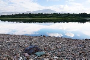 Река Щугор вид на г.Тельпос-Из