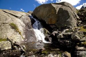 Водопад из оз.Горных Духов