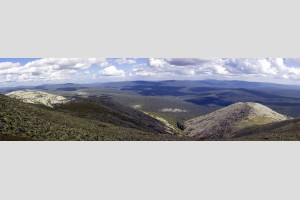 Вид с горы Мартай на восток