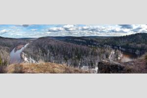 Вид со скалы Стрельный, река Усьва
